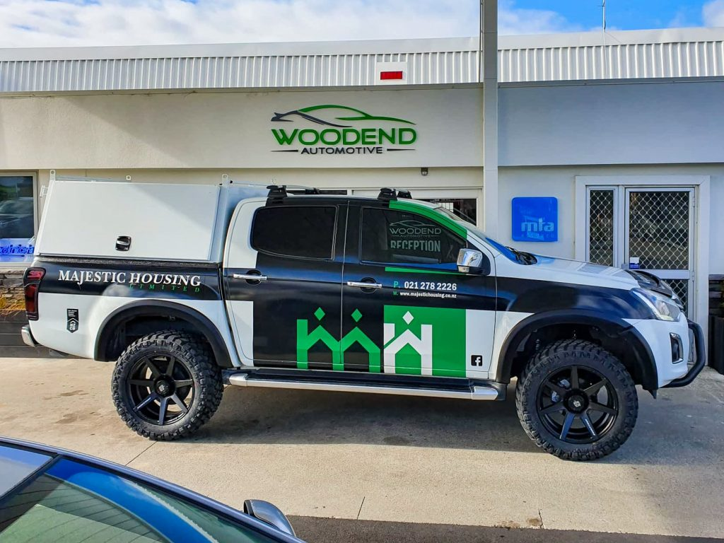 Truck ready for service, oil change and WOF at Woodend Automotive